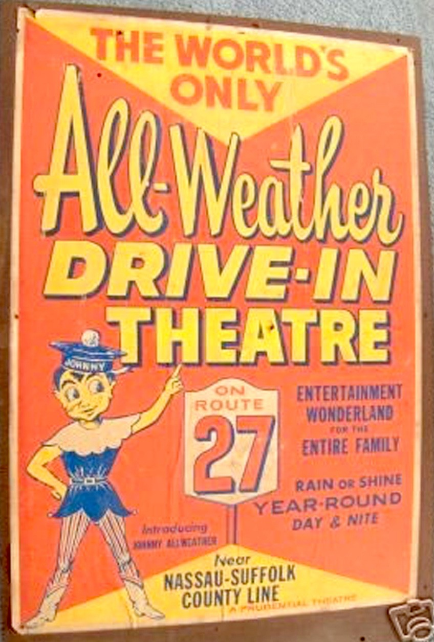 All Weather Drive In Theater Open All Year Day And Night Rain Or Shine Amityville Record